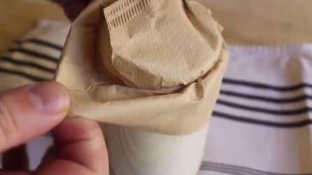 Riempe un barattolo di panna, guardate cosa ottiene dopo 24 ore