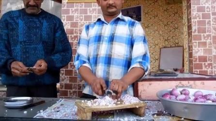 Taglia decine di cipolle in pochi secondi
