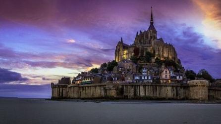 """La """"marea del secolo"""": uno spettacolo naturale a Mont Saint-Michel"""