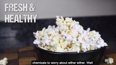 La gustosa ricetta dei pop corn cotti nel forno a microonde