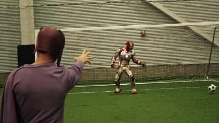 Quando a giocare a calcio è una squadra di supereroi