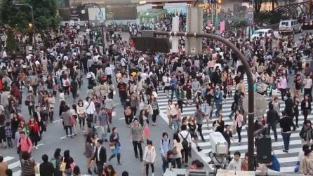 Shubuya,Tokyo: l'incrocio pedonale più affollato al mondo