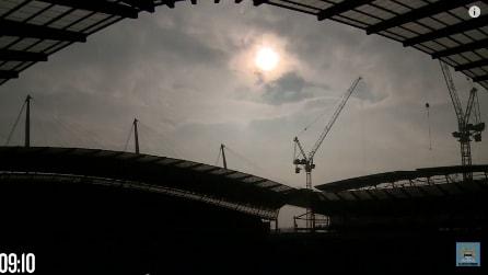 Manchester, l'eclissi solare del 20 marzo 2015: uno spettacolo in due minuti