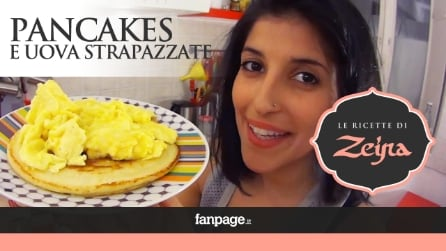 Come preparare i Pancake con uova strapazzate, la tipica colazione americana
