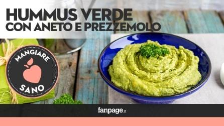 La ricetta dell'Hummus verde, cremoso e delicato