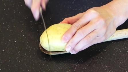 Un nuovo modo di tagliare una patata, il piatto che vi delizierà