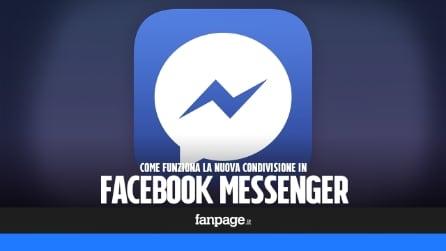 Facebook Messenger: come funziona la nuova condivisione delle app