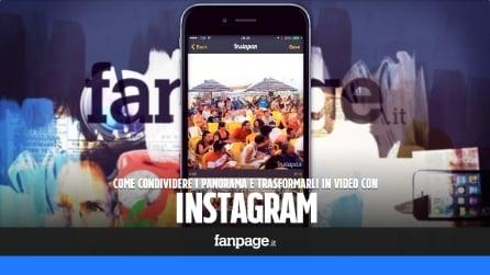 Come condividere le foto panoramiche in Instagram e trasformarle in video