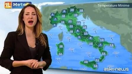 Previsioni meteo per venerdì 27 marzo
