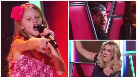 Ha solo 10 anni ma quando inizia a cantare il suo carisma lascia tutti a bocca aperta