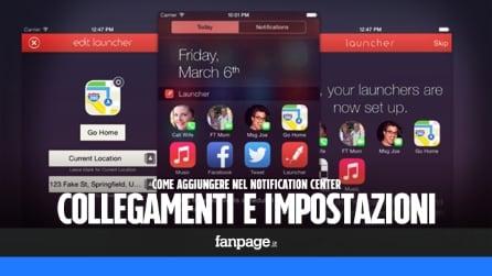 Come aggiungere toggle e collegamenti veloci nel centro notifiche di iOS 8