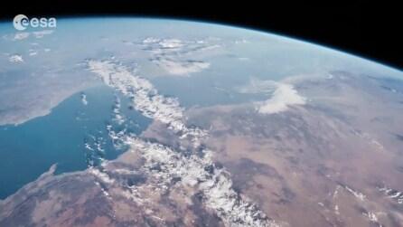 Dall'Italia attraversando tutto l'Oceano Indiano: una meraviglia vista dallo spazio