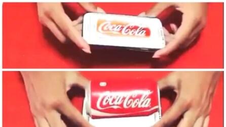 L'illusionista che fa uscire la Coca Cola dal suo smartphone