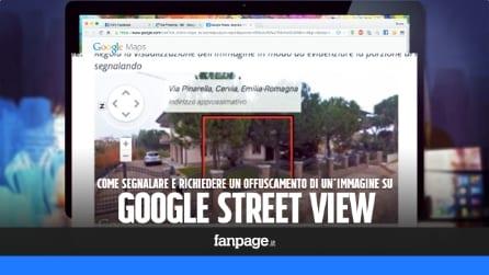 Come richiedere l'eliminazione delle immagini in Google Street View