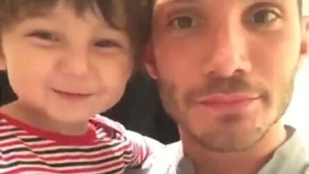 """Santiago e Stefano De Martino salutano Belén, lei: """"Vi amo"""""""
