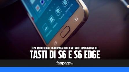 Galaxy S6 e S6 Edge: come modificare la durata della retroilluminazione dei tasti