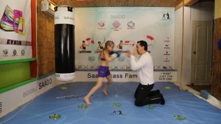 Ha 8 anni ed è già una stella della boxe