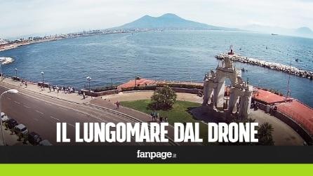 Lungomare di Napoli visto dal drone, le immagini spettacolari