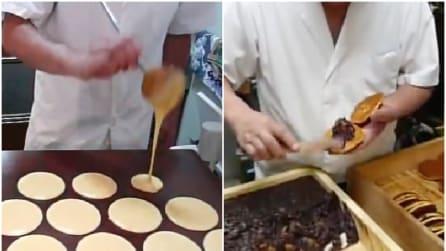 Farcisce i pancake con una crema: sembra cioccolata ma non lo è