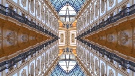 La magia della Galleria Vittorio Emanuele vista da un caleidoscopio