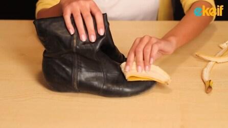 Come pulire le scarpe con la buccia di banana: il risultato è sorprendente