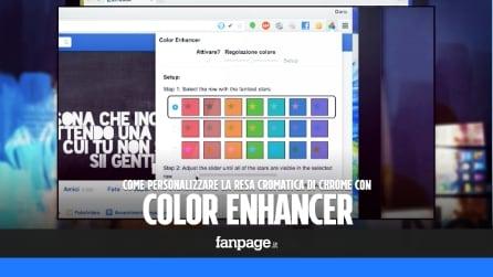 Color Enhancer: personalizzare e ottimizzare i colori in Chrome