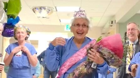 È l'infermiera più vecchia degli Stati Uniti, secondo voi quanti anni ha?