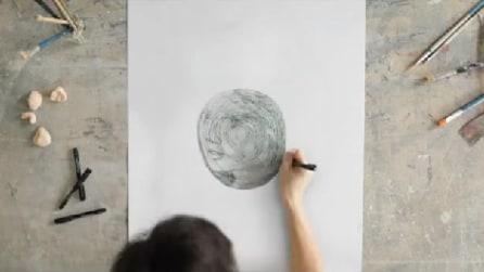 Disegna una semplice spirale ma il risultato finale è un capolavoro