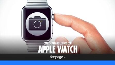 Come scattare le foto con l'Apple Watch