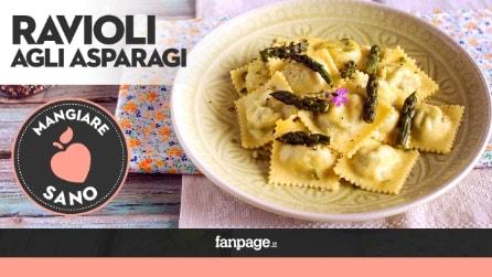 La ricetta dei Ravioli agli asparagi e tofu, deliziosi e leggeri
