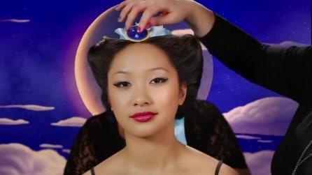 Realizza il suo sogno e viene trasformata in 7 principesse Disney