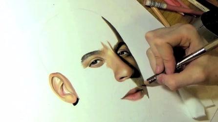 Riproduce in maniera iperrealista il volto di Vin Diesel