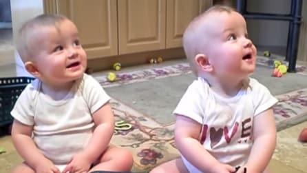 I gemellini imitano il papà che starnutisce: troppo divertente