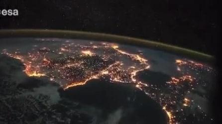 Dalle Canarie all'Italia: le luci della Terra viste dallo Spazio