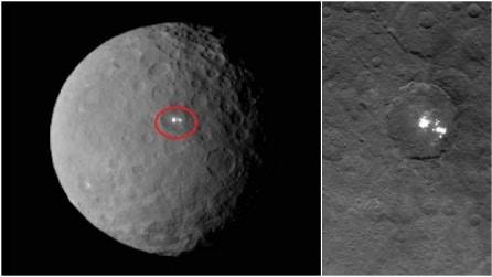 Le prime e suggestive immagini del lontano pianeta Cerere: misteriose macchie bianche sulla superficie