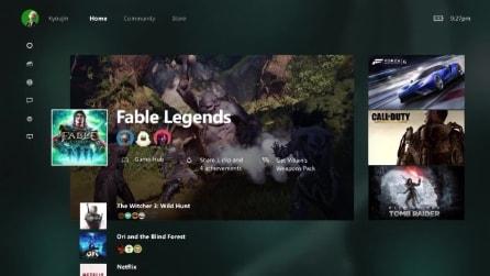 Xbox One, la nuova dashboard con Windows 10 e Cortana