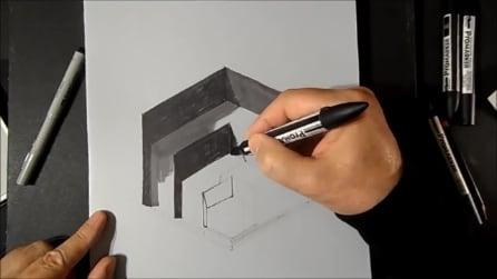 Inizia col disegnare semplici sfumature ma quello che realizza è impressionante!