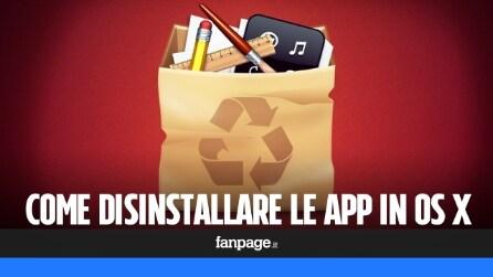 Come disinstallare le app in OS X