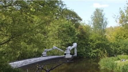 Il robot che costruisce un ponte con la stampa 3D