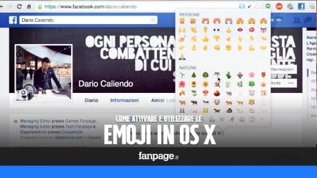 Come attivare e utilizzare le Emoji in OS X