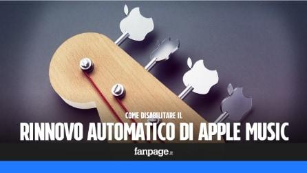 Apple Music: come disattivare il rinnovo automatico