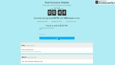 Il sito web più esclusivo del mondo: ecco cosa nasconde