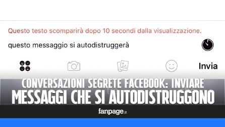 Conversazioni segrete Facebook: inviare i messaggi che si autodistruggono in Messenger