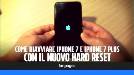 Riavviare iPhone 7 e 7 Plus con Hard Reset: cosa cambia rispetto al passato