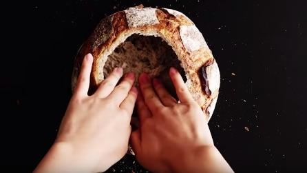 Svuota il pane in questo modo: dopo pochi minuti, il risultato vi farà venire l'acquolina in bocca