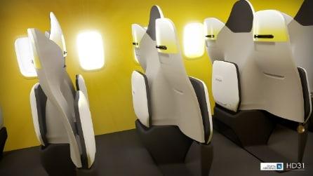 Rivoluzione a bordo degli aerei: il progetto per le sedute e una maggiore comodità