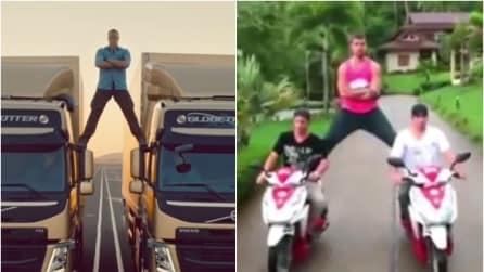 Come Van Damme: il famoso spot su due motorini