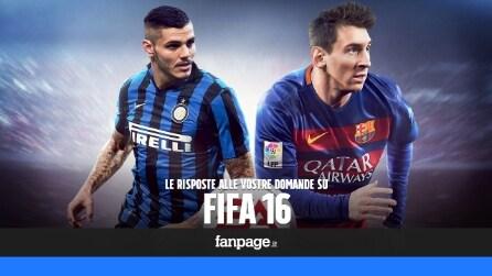 FIFA 16, le risposte alle vostre domande sulla simulazione calcistica di EA