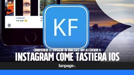 Instagram come tastiera in iOS per condividere le foto (anche) con WhatsApp