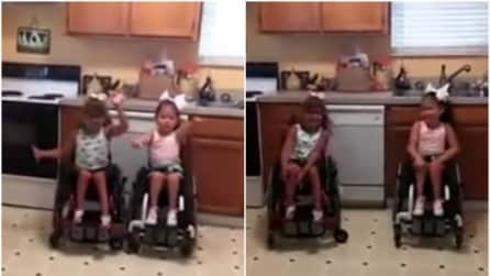 Le bimbe sono sulla sedia a rotelle ma quello che fanno vi lascerà senza parole